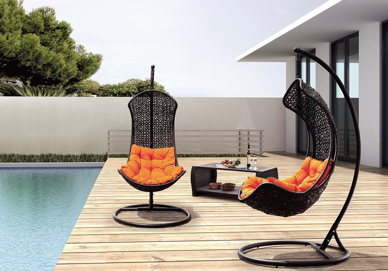 Amazon.com : Clove   Balance Curve Porch Swing Chair   Model   Y9091Bk :  Hammocks : Patio, Lawn U0026 Garden
