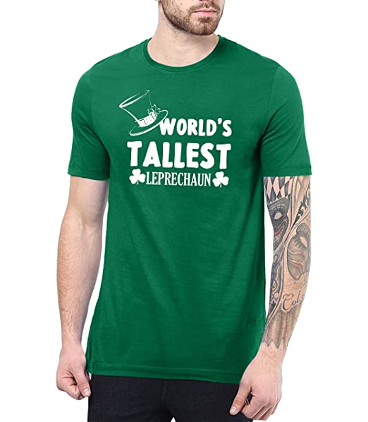 7cb9296a3 Amazon.com: St Patrick Day Shirts Men - Worlds Tallest Leprechaun Shirt:  Clothing