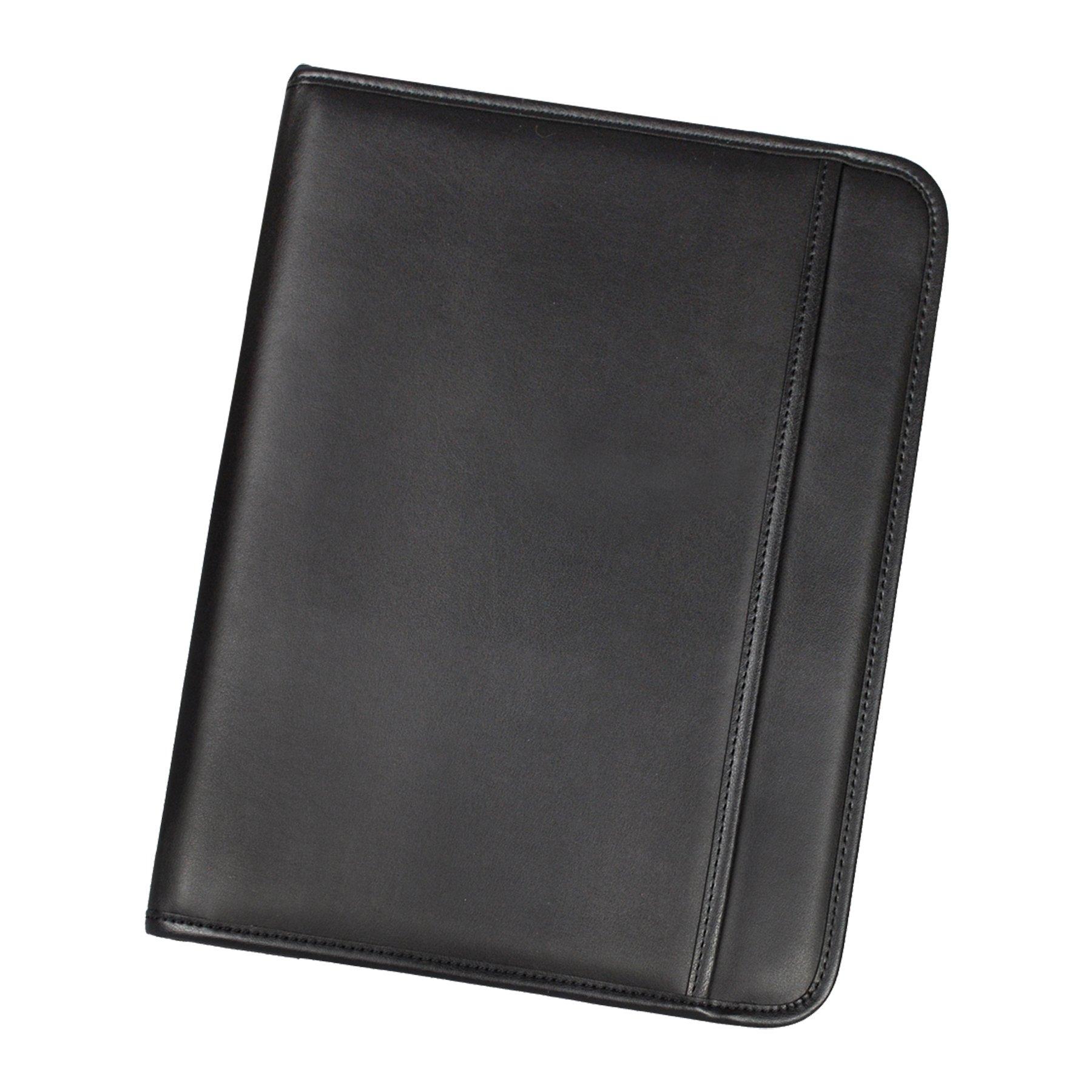 Samsill E-Keeper Zipper Duo-Pad Folio - Black (70840)