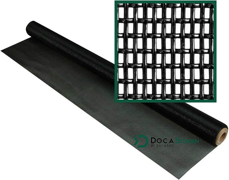 "DocaScreen Pet Screen – 36"" x 25' Pet Proof Screen – Pet Resistant Screen for Window Screen, Patio Screen, Door Screen, Porch Screen, and Other Screen enclosures – Dog Screen, Cat Screen, and More"