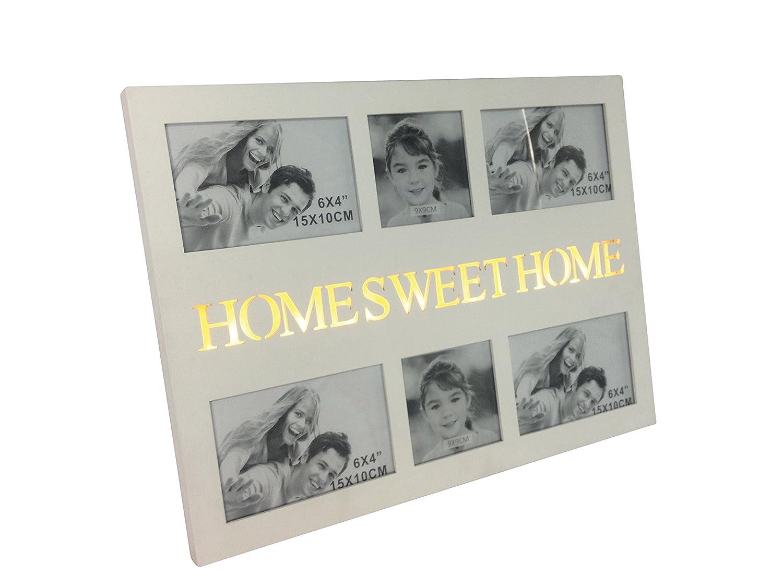 elbmöbel beleuchteter Bilderrahmen Home Sweet Home Collage ...