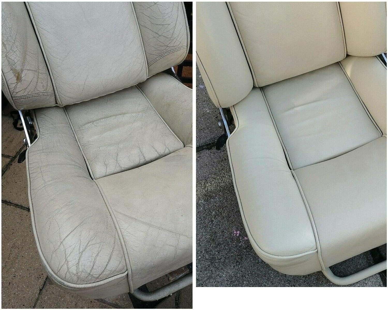 Relleno de piel beige, pasta de reparación de arañazos para sofás, asientos de coche, apto para todos los artículos de cuero y vinilo.