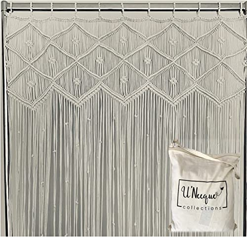 U'Neeque Collections Beautiful Artisan Handwoven Boho Macrame Curtain Panel