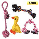 Decyam Pet Dog Toys Set 4 Pack, Dog Rope Toys Dog Chew Toy for Small Medium Dogs