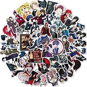 Anime Black Butler Stickers Pack 50-Pcs Decals of Bumper Stickers Decals for Cars Motorcycle Portable Luggages Ipad Laptops Waterproof Sunlight-Proof (Black Butler)