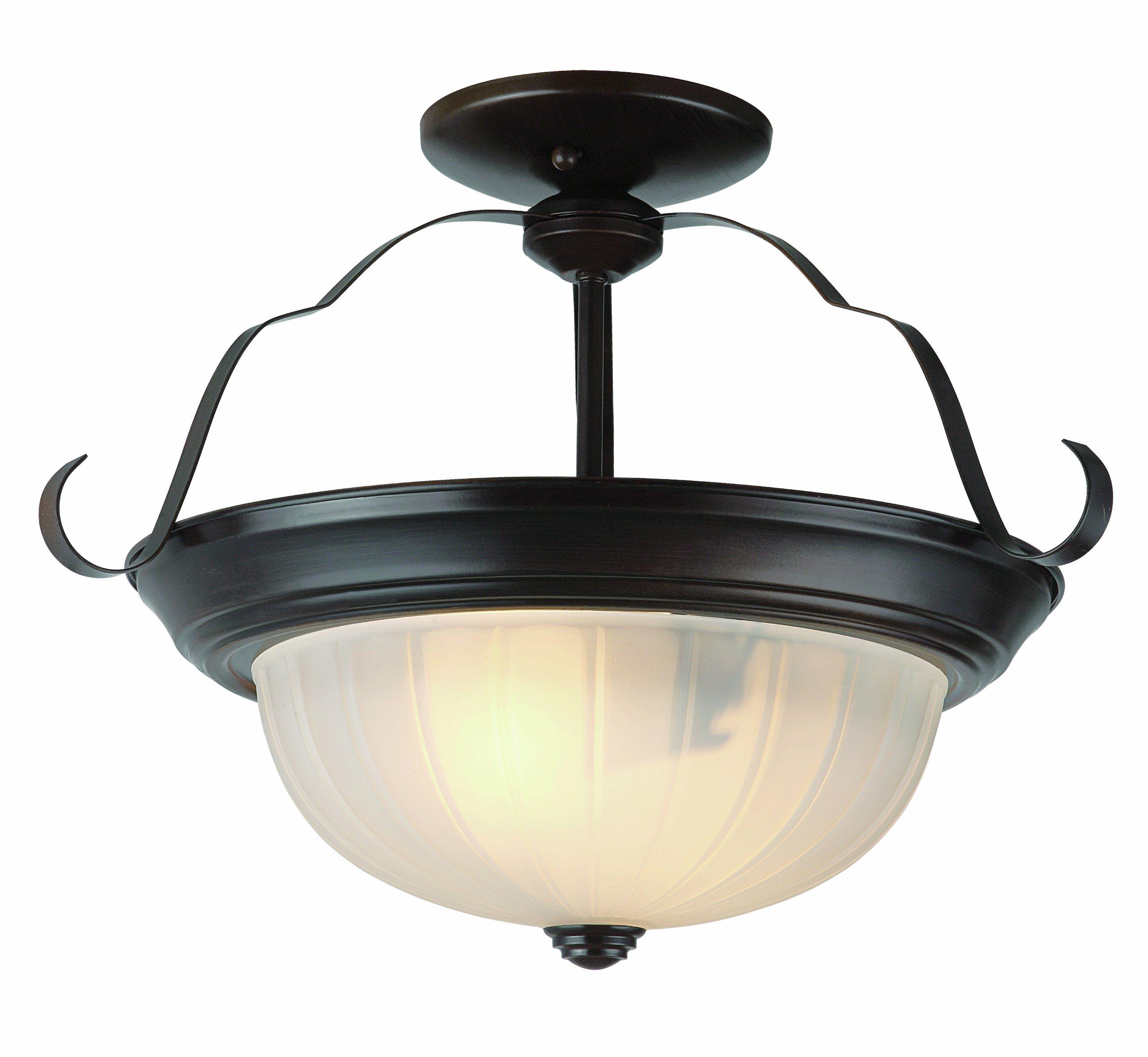 Trans Globe Lighting 13215 ROB Indoor Breakwater 15'' Semiflush, Rubbed Oil Bronze