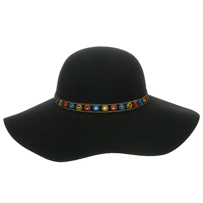 Amazon.com  Women s Extra Soft Felt Floppy Wide brim Hat - Black ... 5a9b657ebc4