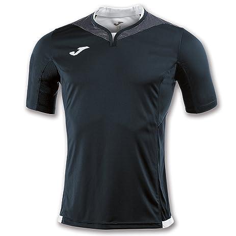 Joma Teamwear T-Shirt Silver Short Sleeves Black