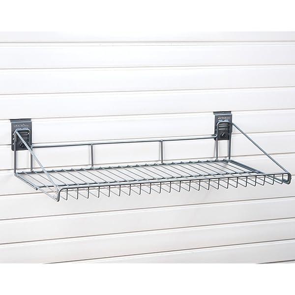 StoreWALL Small Angle Basket with CamLoks for Storage on Garage Slatwall Panels