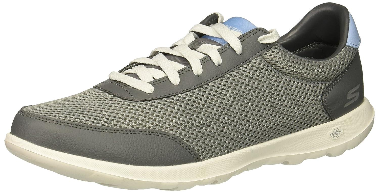 Skechers Women's Go Walk Lite Flare Sneaker B07B1XDHSH 11 M US|Charcoal/Blue