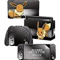 "Controller Gear Officially Licensed Nintendo Switch Skin & Screen Protector Set - Pokémon - ""Eevee Elemental"" Set 1"