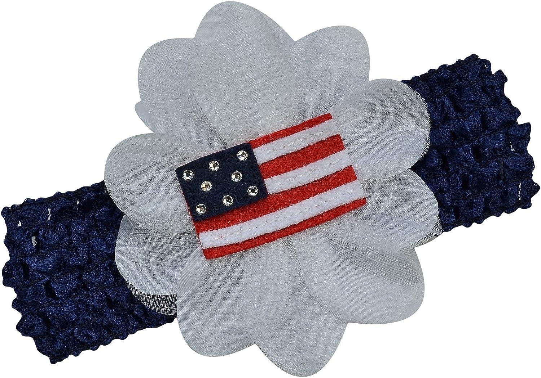 american flag july 4th girl tie headband patriotic top knot July 4th headband girls headband