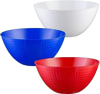 Cuenco para fiestas 5,45 litros 45 cm Ensaladera Cuenco grande de pl/ástico para pelotas de rugby color marr/ón Forma de pelota de rugby