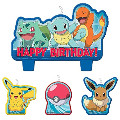 Pokemon Birthday Character Candle Set - 4 pcs: Toys & Games