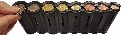 CLAIRE-FONCET Monedero con dispensador de monedas de 8 piezas de Euro, Monedero cintura