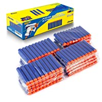 Refill Bullet Darts for Nerf N-Strike Elite Series Blasters 200 PCS Pack Cyclone EVA Sponge Foam Soft Tips for Children Toys ( Blue )