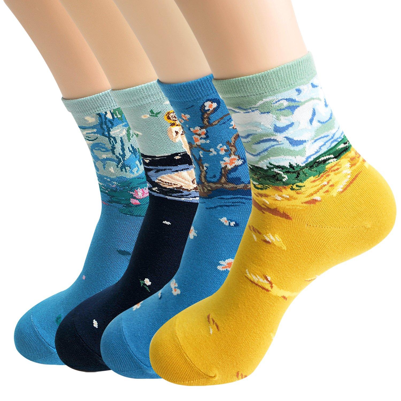 Women's Casual Crazy Fashion Unique Socks Gift Set (Master Piece 3)