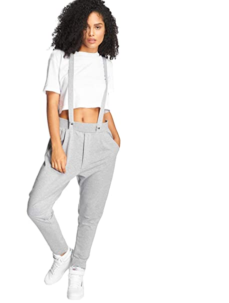 e36cc84be Bangastic a Cuadros Pantalones de Jogging Mujer Gris  Amazon.es  Ropa y  accesorios