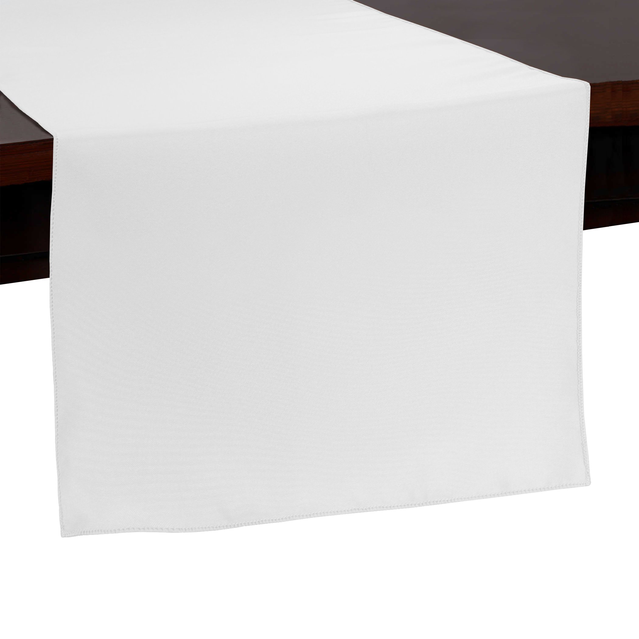 Ultimate Textile -10 Pack- 14 x 108-Inch Polyester Table Runner - for Wedding, Restaurant or Banquet use, White