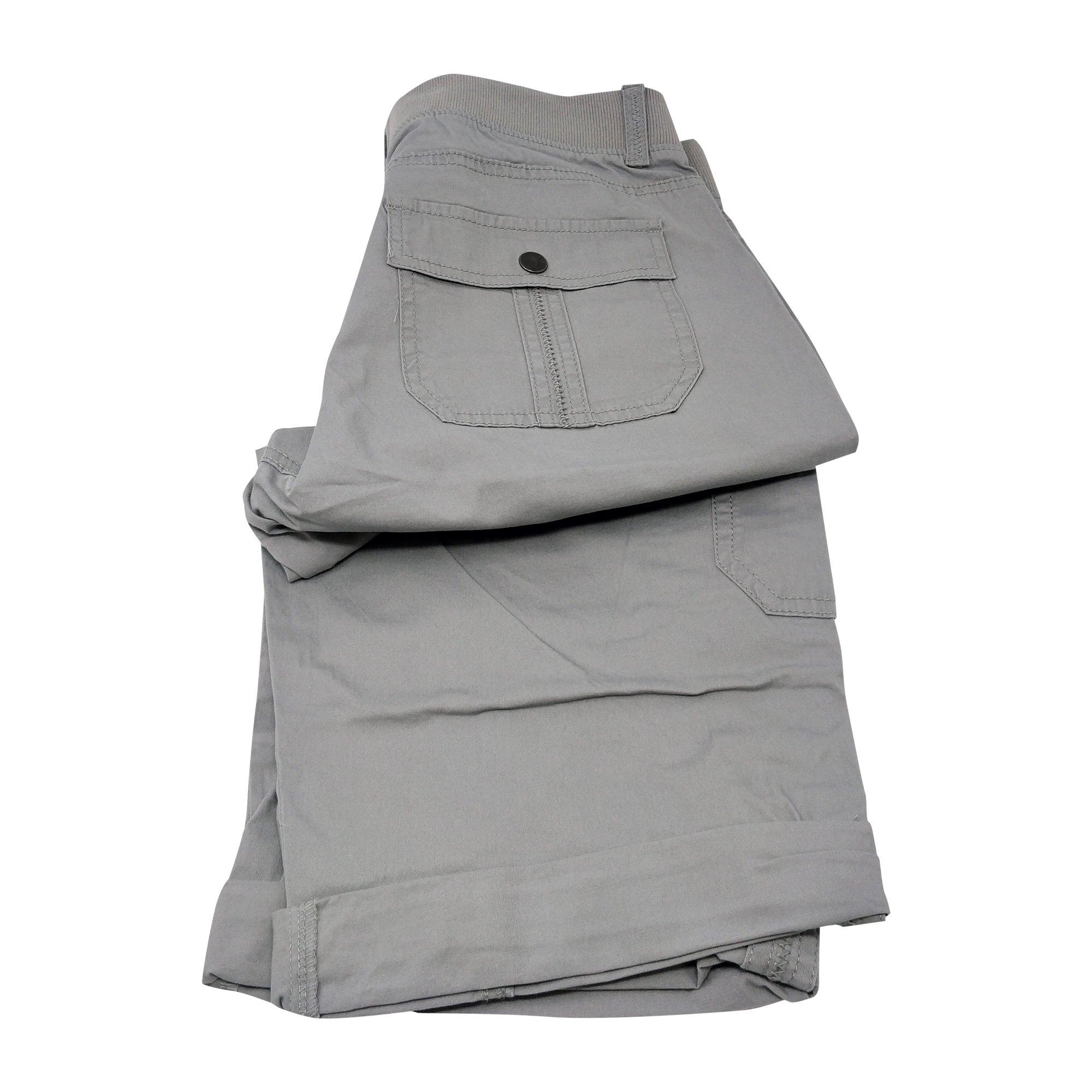 LEE Women's Relaxed Fit Skye Knit Waist Cargo Capri Pant (18, Alloy)