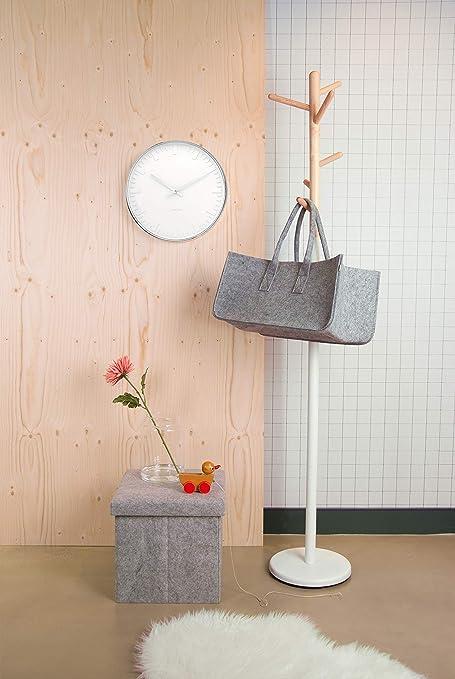 Wall Station Clock Present Time Karlsson MrWhite v0wmynON8P