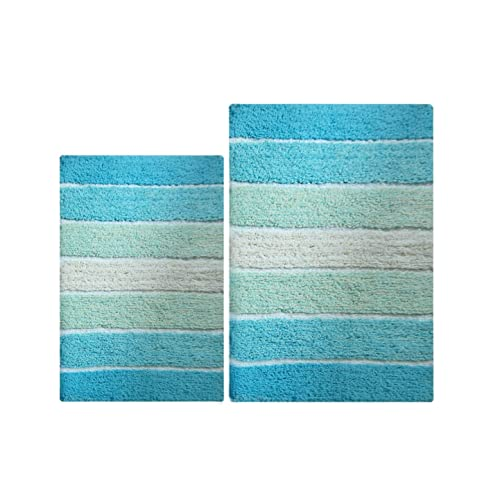 Aqua Bathroom Rugs: Amazon.com