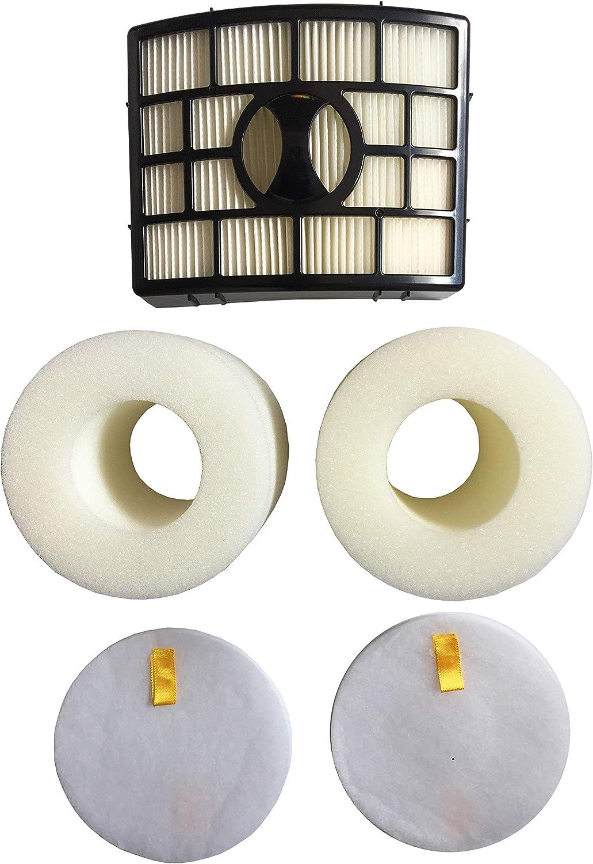 QCQueencleano Filters for Shark Rotator Power Lift-Away Vacuum NV650,NV650W,NV651,NV652,NV750,NV750W,NV751,NV752, 2 Foam & Felt + 1 Hepa Filter
