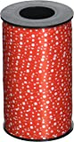 Berwick 3800813 Reverse Dots Curling Ribbon, 3/8-Inch Wide by 250-Yard Spool, Red