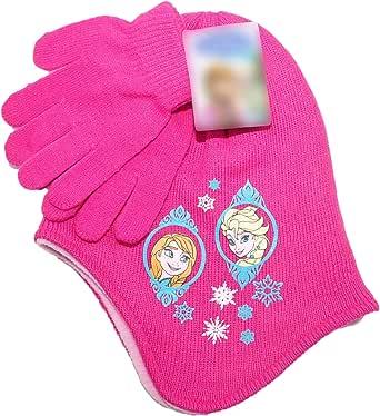 Gorro de invierno para niñas y niños, bufanda oficial Hello kity Pony Minions Frozen