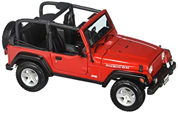 af36dd30e50 Jeep Wrangler Rubicon, Red - Maisto 31663 - 1/18 Scale Diecast Model Toy