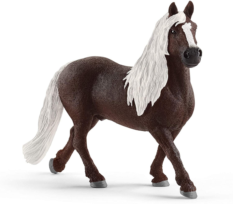 Amazon Com Schleich Farm World Black Forest Stallion Educational Figurine For Kids Ages 3 8 Toys Games