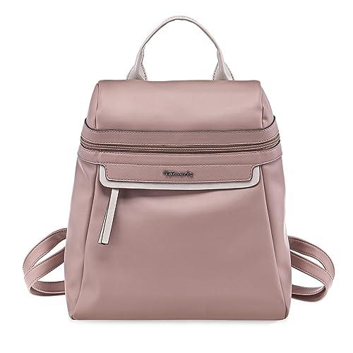 Tamaris AVA Damen Handtasche, Backpack, Rucksack, 32x34x15 cm (B x H x T), 4 Farben: schwarz comb, braun comb, gelb comb. oder rose comb.