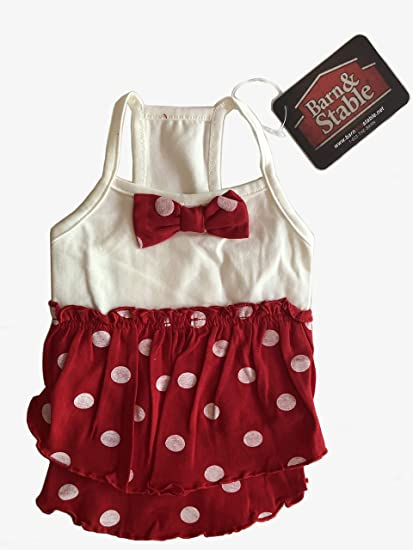 c8ac2b9931df Image Unavailable. Image not available for. Color: Barn&Stable Girly Cute  Pet Puppy Dress Clothes Summer Lightweight