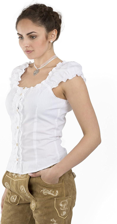 Trachtenbluse Carmen Weiss Elegante Bluse Trachten Carmenbluse
