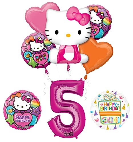 Image Unavailable Not Available For Color Hello Kitty 5th Birthday Party Supplies