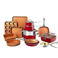 Deals on 20-Piece Gotham Steel Cookware & Bakeware Set w/Nonstick Coating