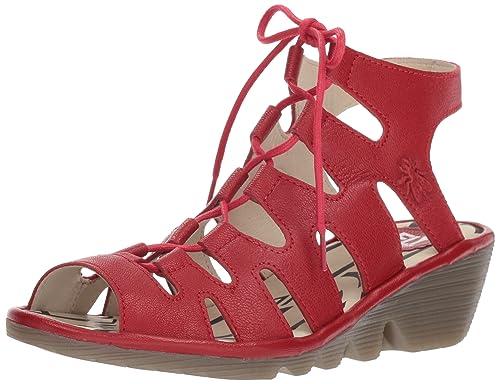 Port813fly, Zapatos de Tacón con Punta Abierta para Mujer, Negro (Black), 39 EU FLY London