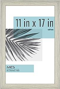 MCS Industries Inc 63714 11x17 Inch Studio Gallery, Gray Woodgrain Frames, 11x17