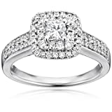 Amazon Price History for:14k White Gold Princess Cut Centre Stone Diamond Bridal Engagement Ring (1cttw, I-J Color, I1-I2 Clarity)