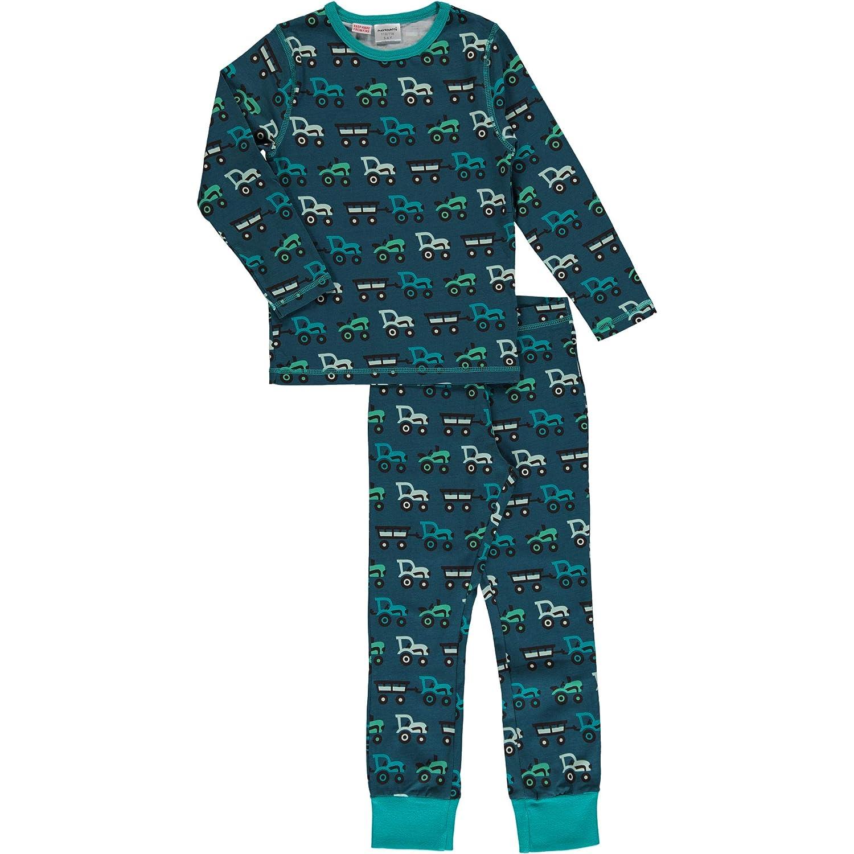 Maxomorra Baby Jungen Schlafstrampler Blue Landscape