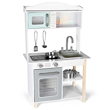 Peachy Kledio Small Wooden Toy Kitchen For Girls And Boys From 3 Years Made Of Wood Fsc 100 Incl 4 Piece Accessories Download Free Architecture Designs Viewormadebymaigaardcom