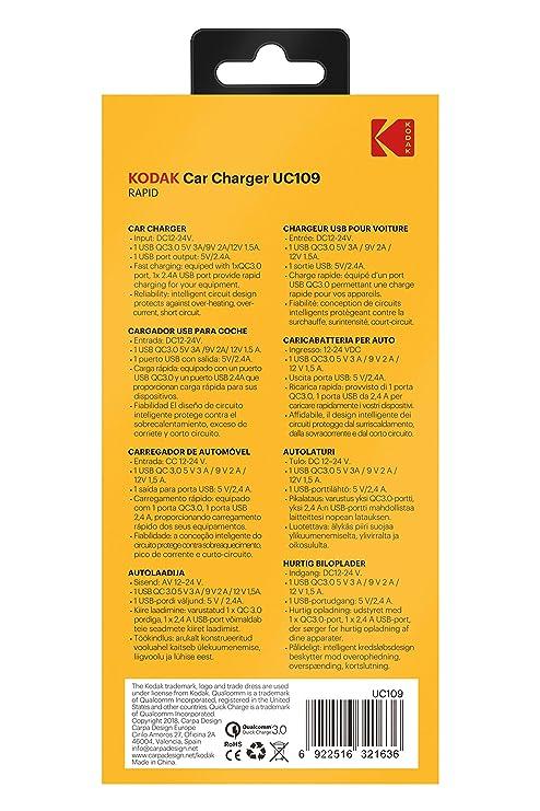 Amazon.com: KODAK UC109 USB Fast Car Charger: Automotive