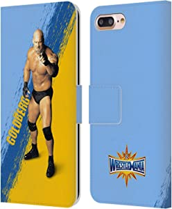 Head Case Designs Officially Licensed WWE Goldberg Wrestlemania 33 Leather Book Wallet Case Cover Compatible with Apple iPhone 7 Plus/iPhone 8 Plus