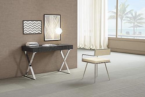 Whiteline Modern Living Elm Grey Desk