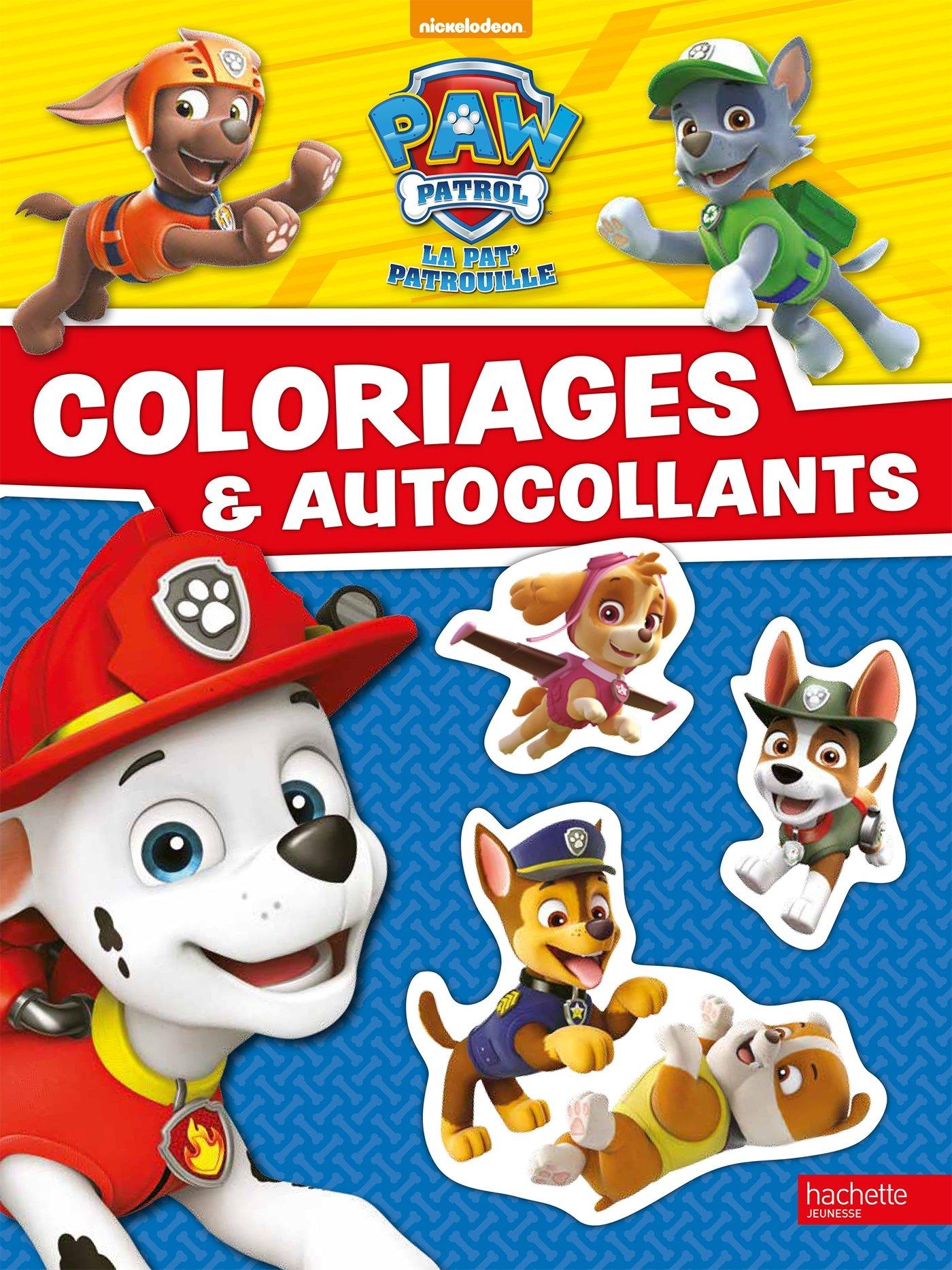 Paw Patrol La Pat Patrouille Coloriages Et Autocollants Amazon Fr Nickelodeon Livres