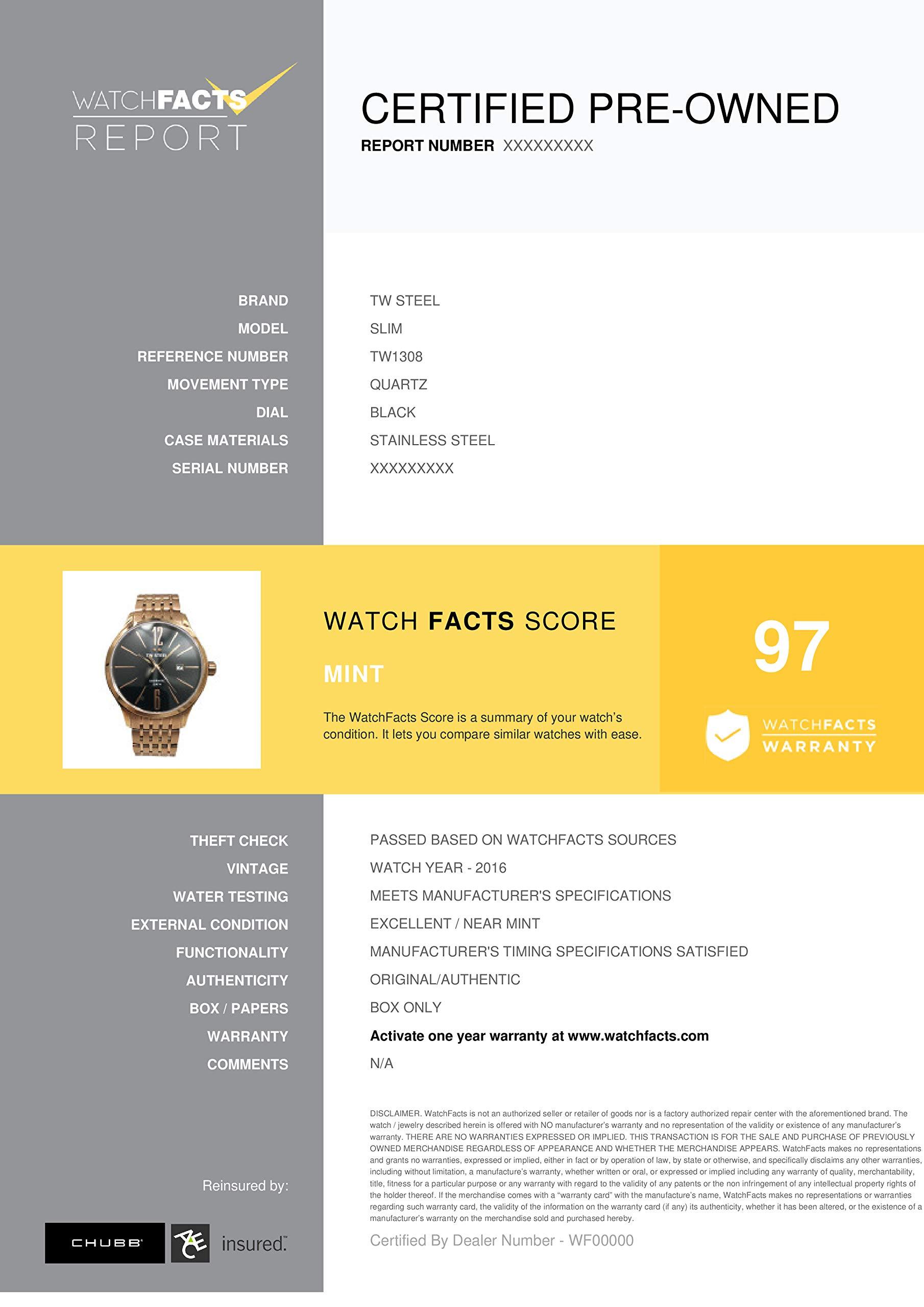 TW Steel Slim Quartz Male Watch TW1308 (Certified Pre-Owned) by TW Steel (Image #3)