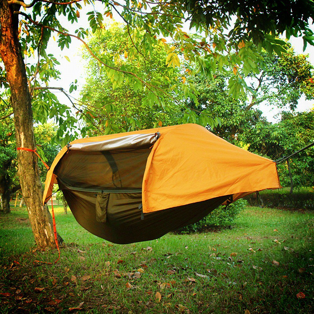 Waterproof Portable Camping Hammock Mosquito Net Rain