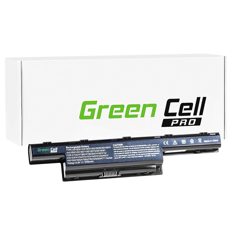 Green Cell® PRO Serie Batería para Acer Aspire E1-571 Ordenador (Las Celdas Originales Samsung SDI, 6 Celdas, 5200mAh, Negro): Amazon.es: Electrónica