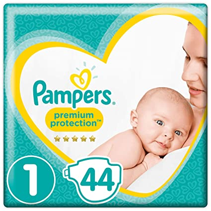 Pampers Premium Protection Taille 1 44 Couches 2kg 5kg Amazonfr