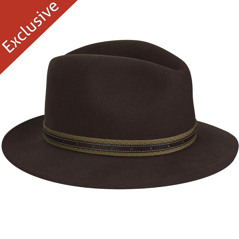 beb9074216a85 Com Men Quest Safari Fedora - Exclusive at Amazon Men s Clothing store